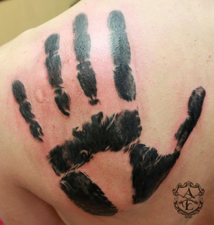 Brother's Hand Print Tattoo done by Sean Ambrose by seanspoison