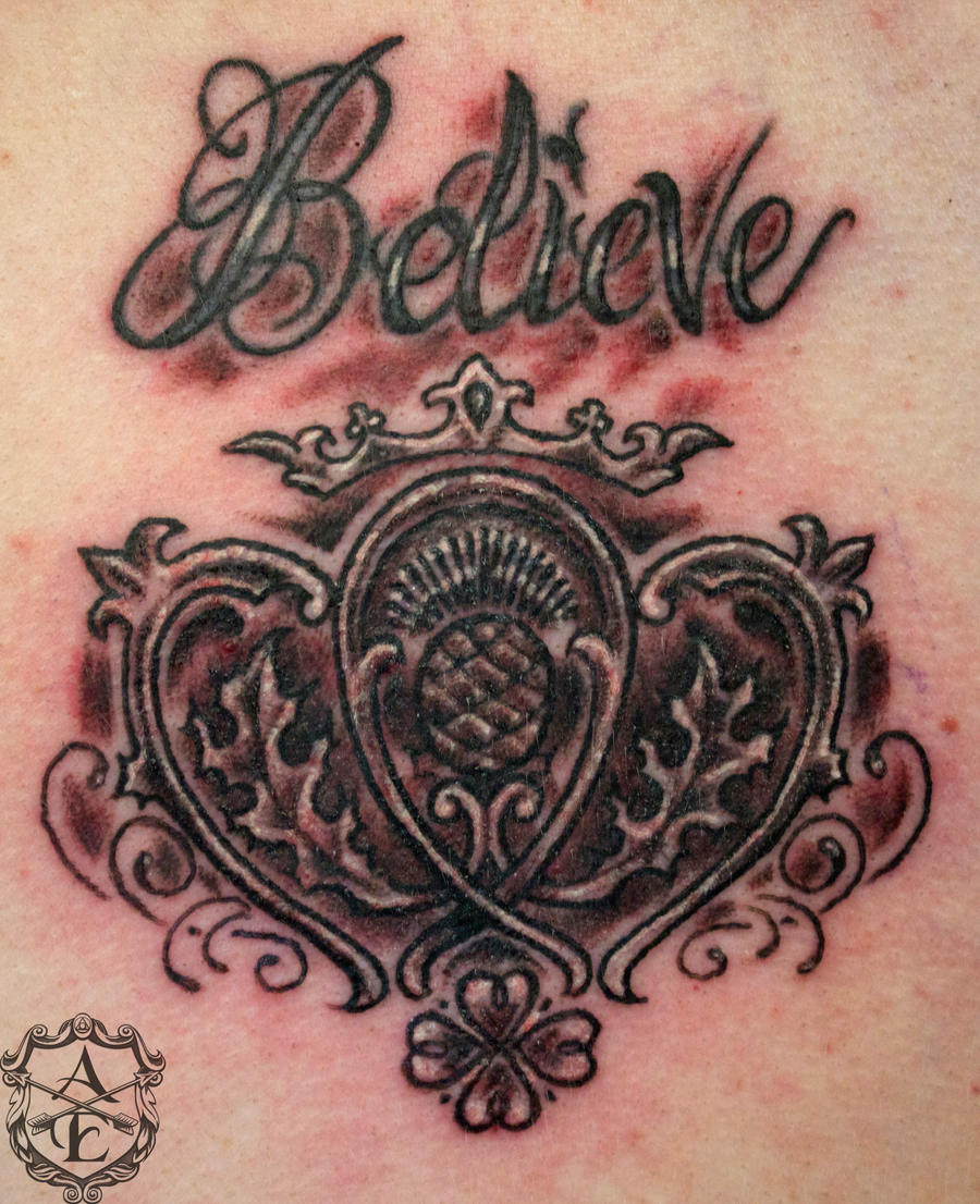 Royal Believe Tattoo done by Sean Ambrose by seanspoison