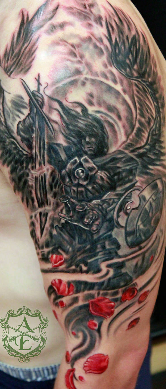Archangel Michael Tattoo done by Sean Ambrose by seanspoison