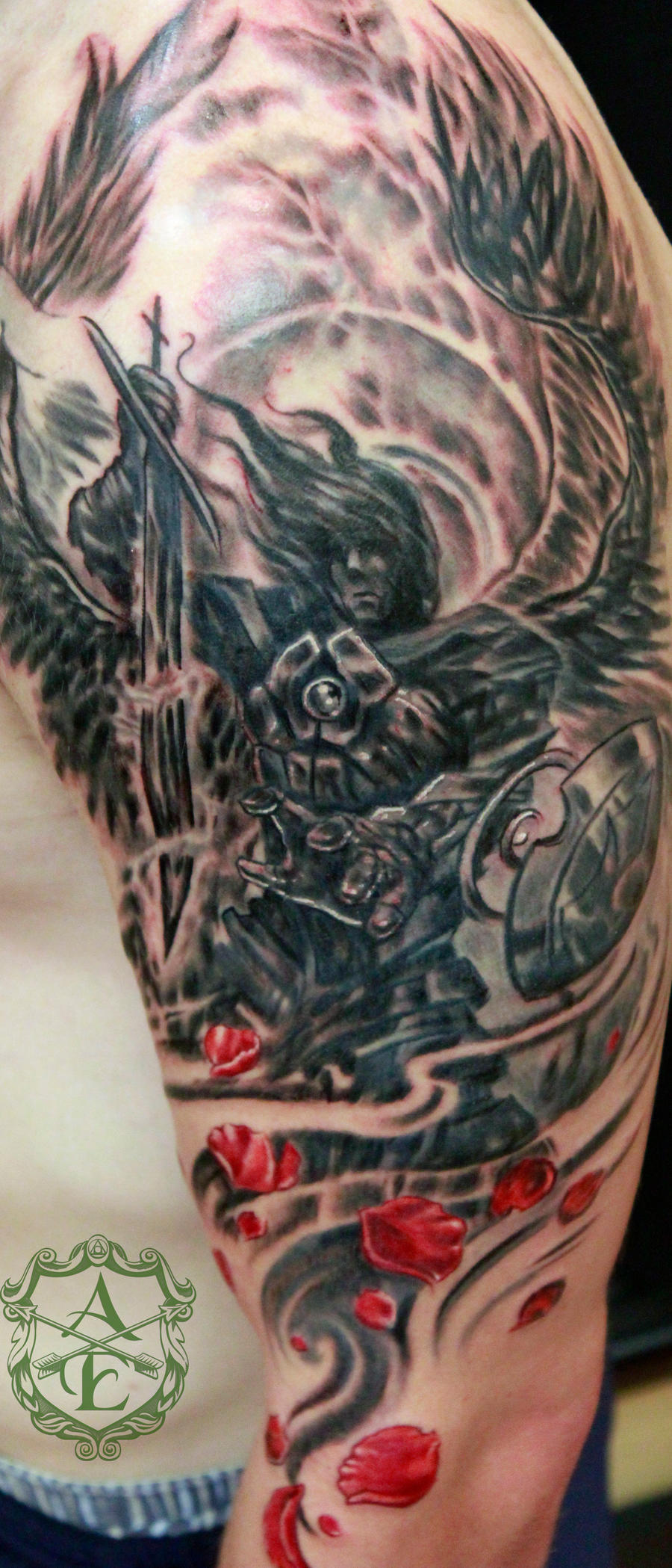 Archangel Michael Tattoo done by Sean Ambrose by seanspoison on ...