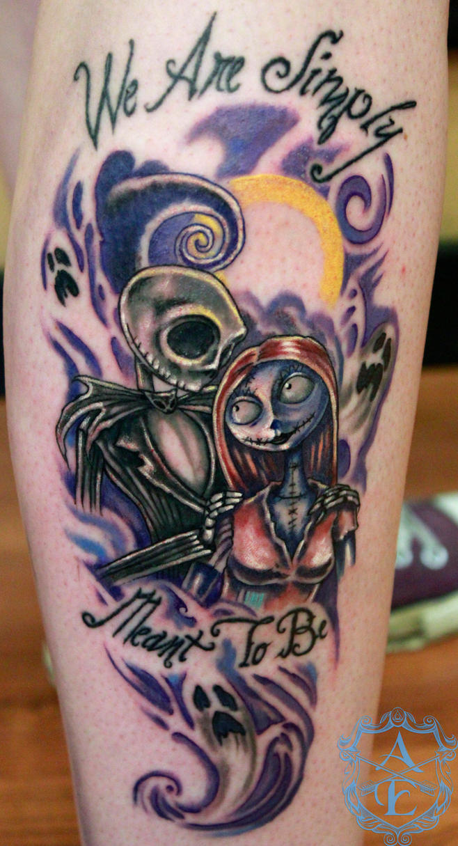 Top sally nbc tattoo images for pinterest tattoos for Jack skellington and sally tattoos