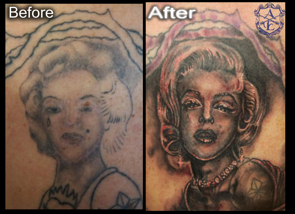 Marilyn Monroe Tattoo Up