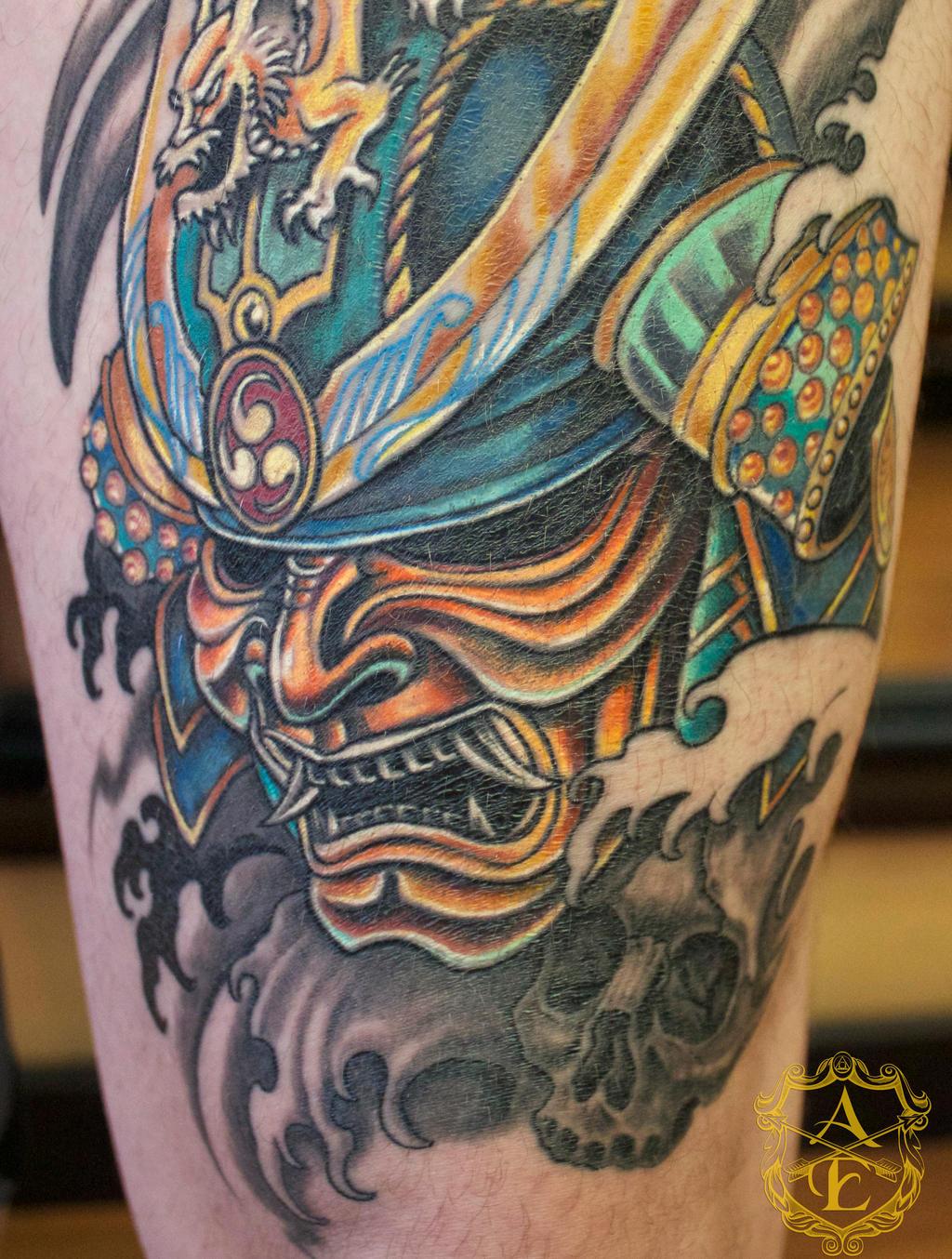 Samurai Mask Tattoos