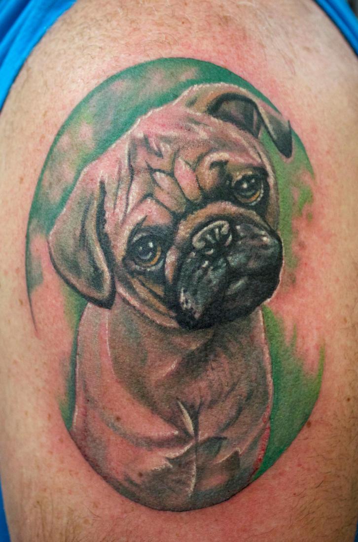 Pug Portrait by seanspoison