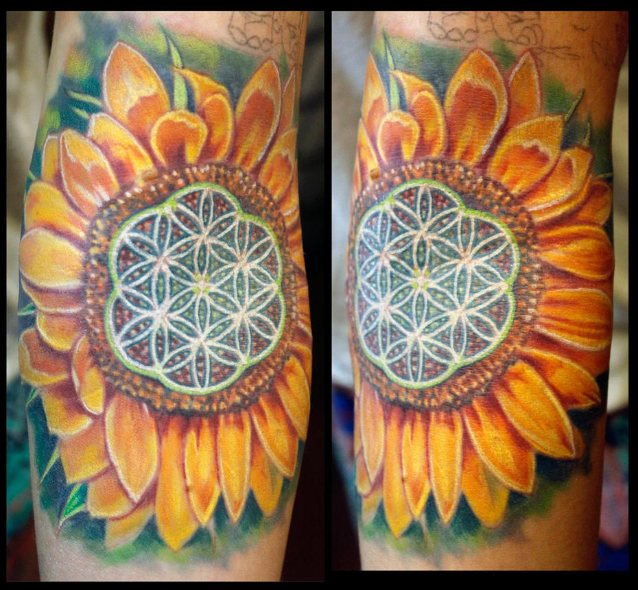 Sunflower:floweroflife by seanspoison