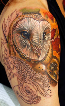 Owl in Progress =) More Woodland Critters to come!