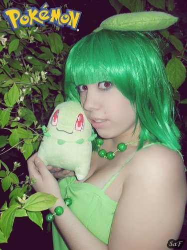 Cosplay Chikorita (Pokemon) 2 by SaFHina