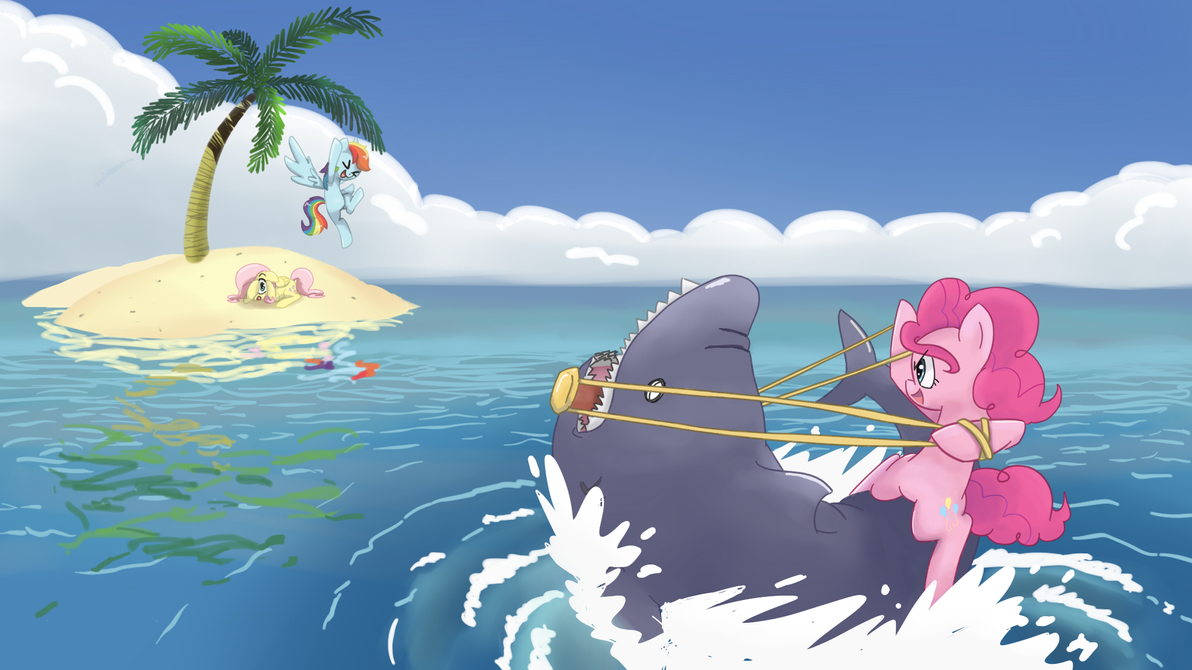 Shark Wrangler: Wallpaper Version! by spicyhamsandwich