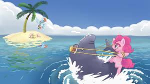 Shark Wrangler: Wallpaper Version!