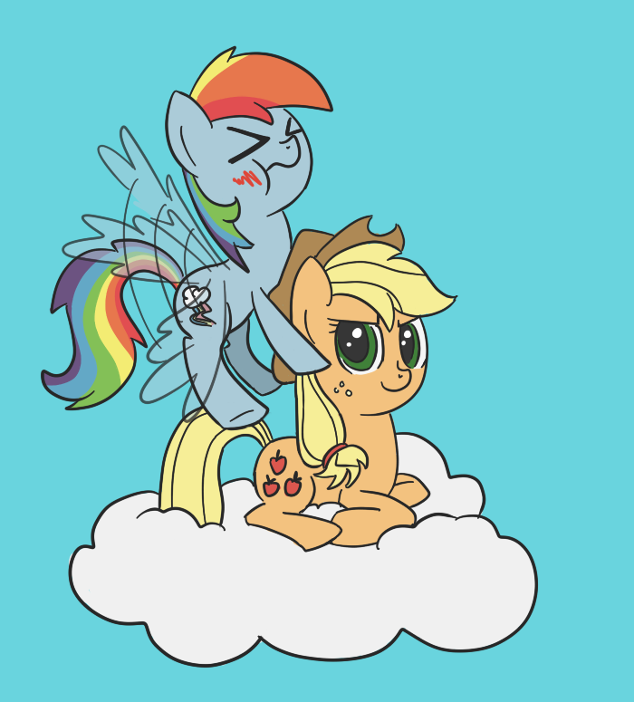 Applejack's Cloud by spicyhamsandwich