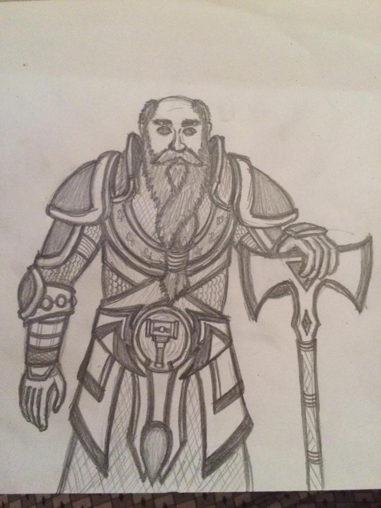 Dwarf veteran  by Buldocek