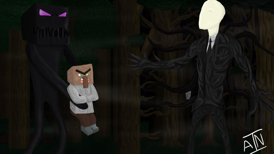 enderman meet slenderman by aaronizninjaa on deviantart