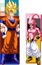 Goku SSJ2 VS Kid Buu by zahoriglez