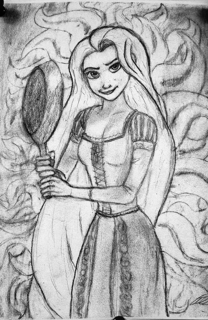 Rapunzel Sketch by Confidenceman047