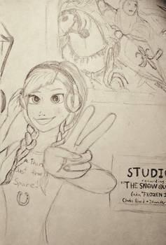 Frozen 2 Anna sketch