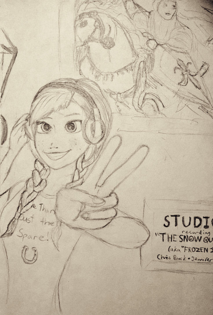 Frozen 2 Anna sketch by Confidenceman047