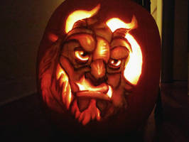 Beast Pumpkin Carving
