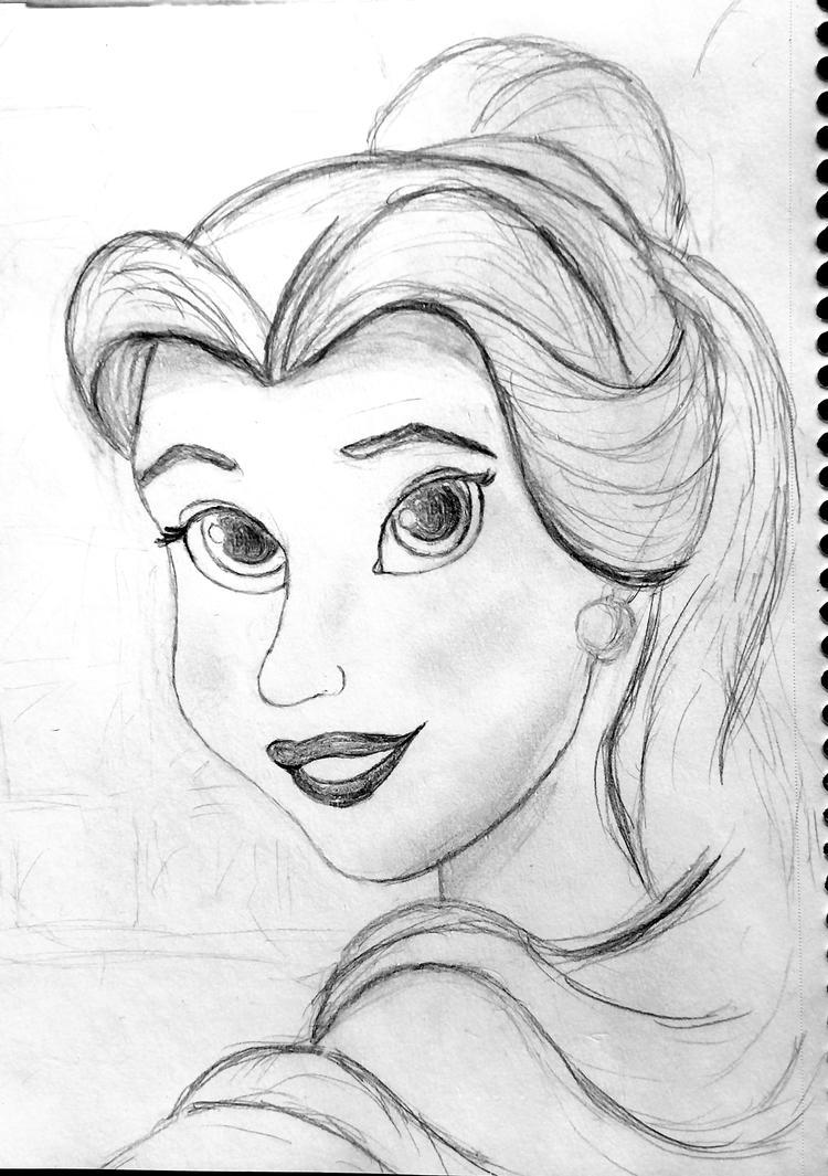 Belle Sketch by Confidenceman047