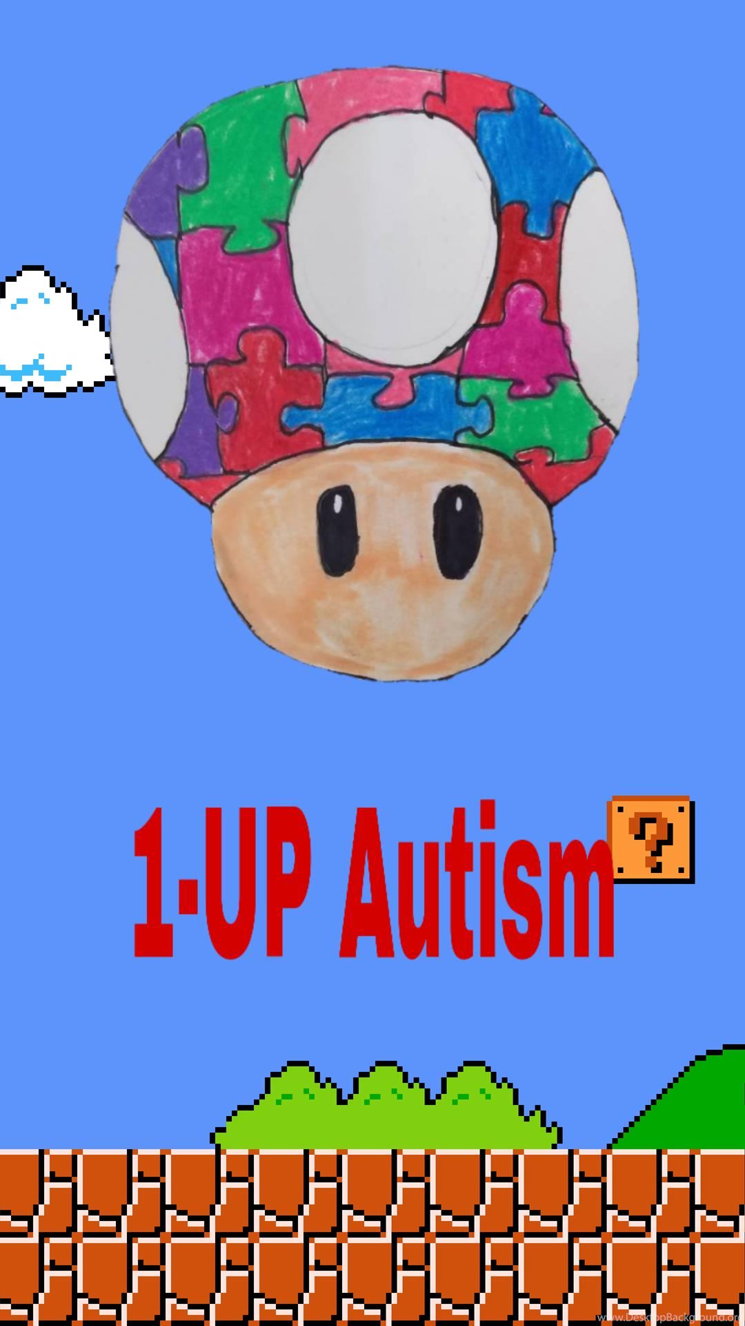 1 Up Autism Phone Wallpaper By Jon45030 On Deviantart