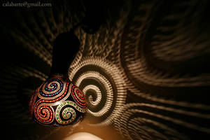 Wall lamp II - Spirals - by night 1 by Calabarte