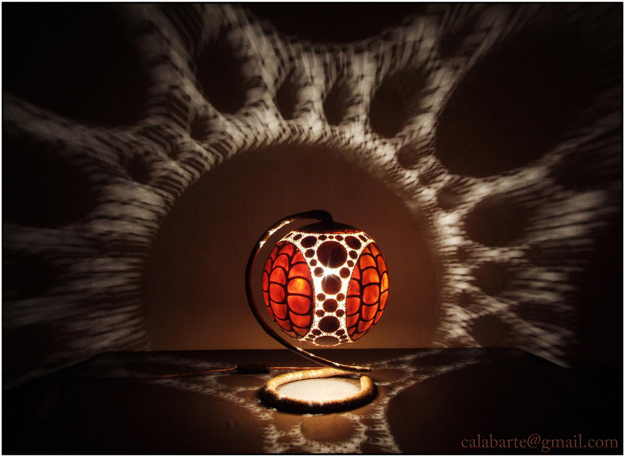 Table lamp VIII - Fractal Bio Sphere by Calabarte