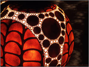 Table lamp VIII - Fractal Bio Sphere