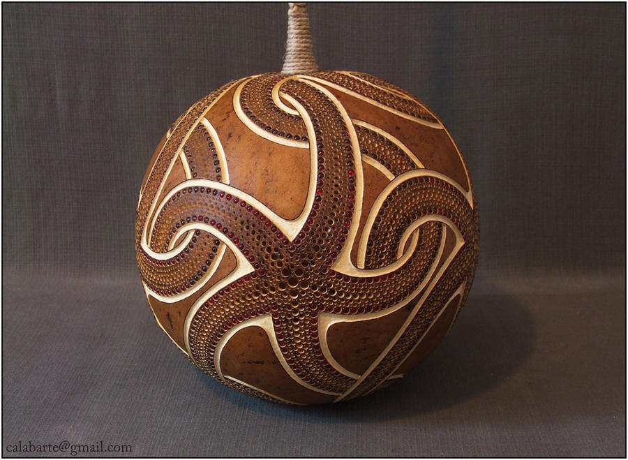 Hanging gourd lamp III - day 2 by Calabarte