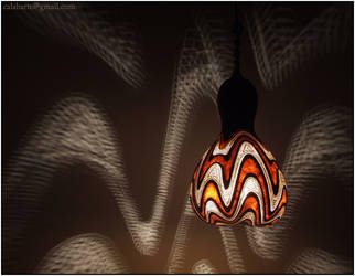 Hanging gourd lamp IV night 1 by Calabarte