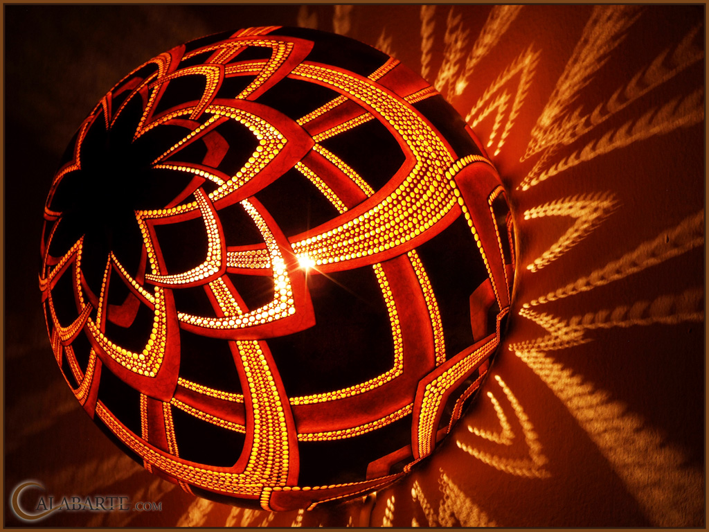 Gourd lamp bracket V night 7 by Calabarte