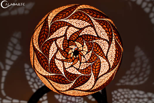 Table lamp XXVII Escher's Leaves