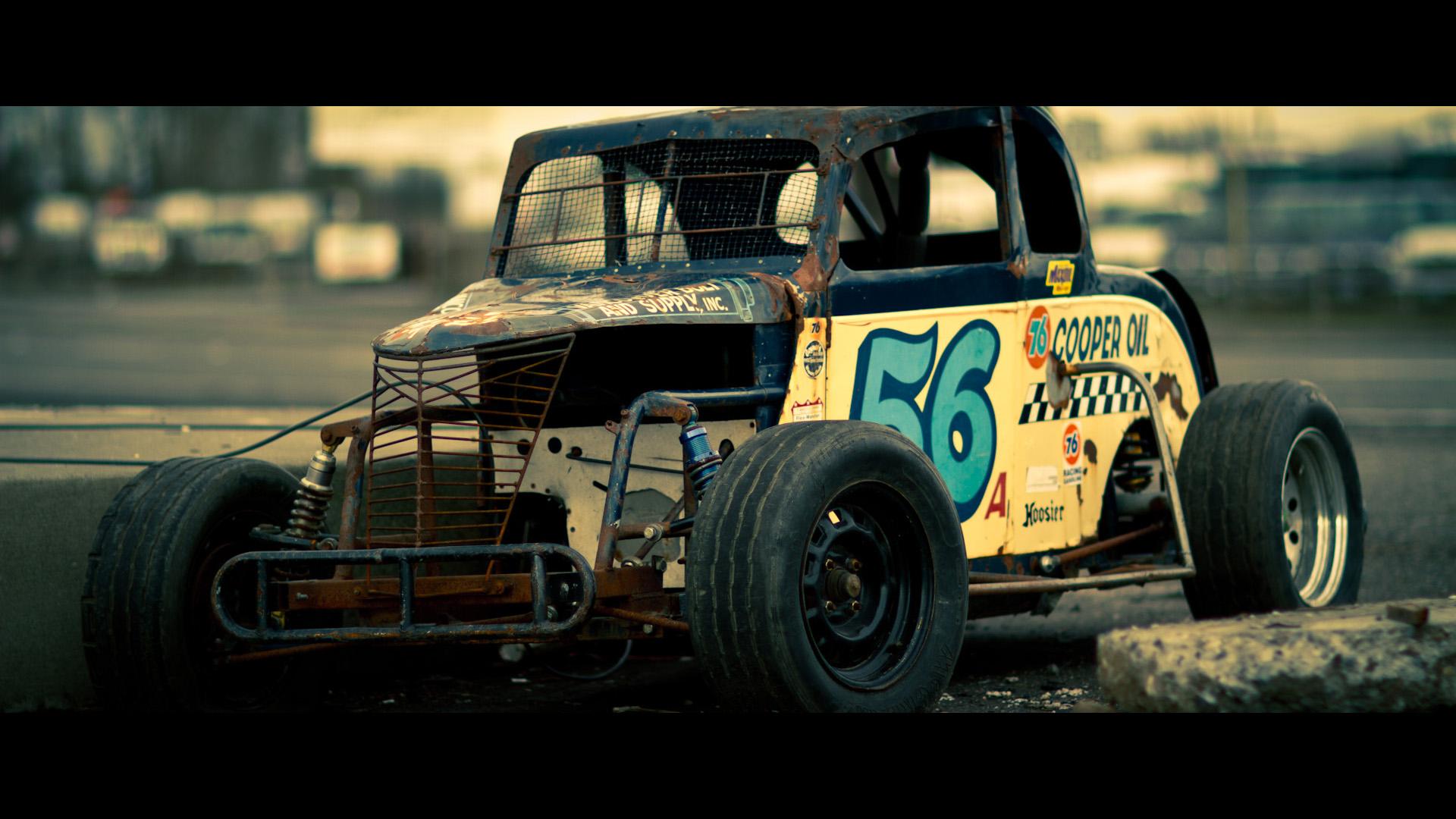 Old Race Car Side by ~avngyn