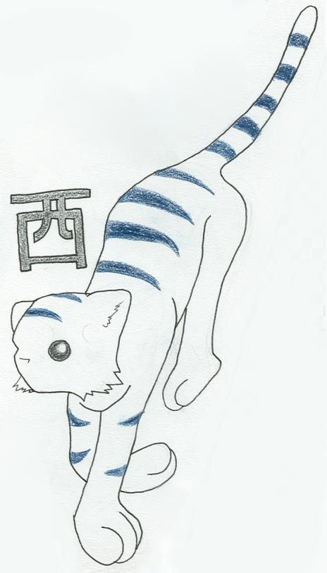 Byakko White Tiger of the West by NamuCiziru