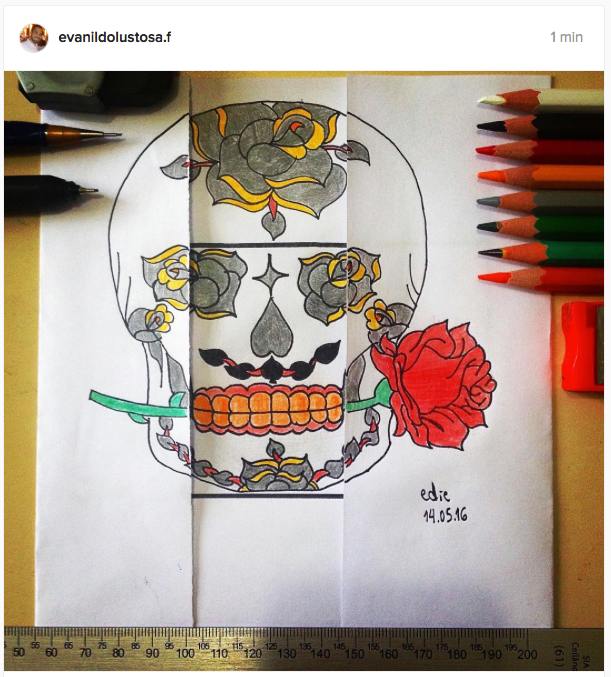 Skull and Flower by lustosaart
