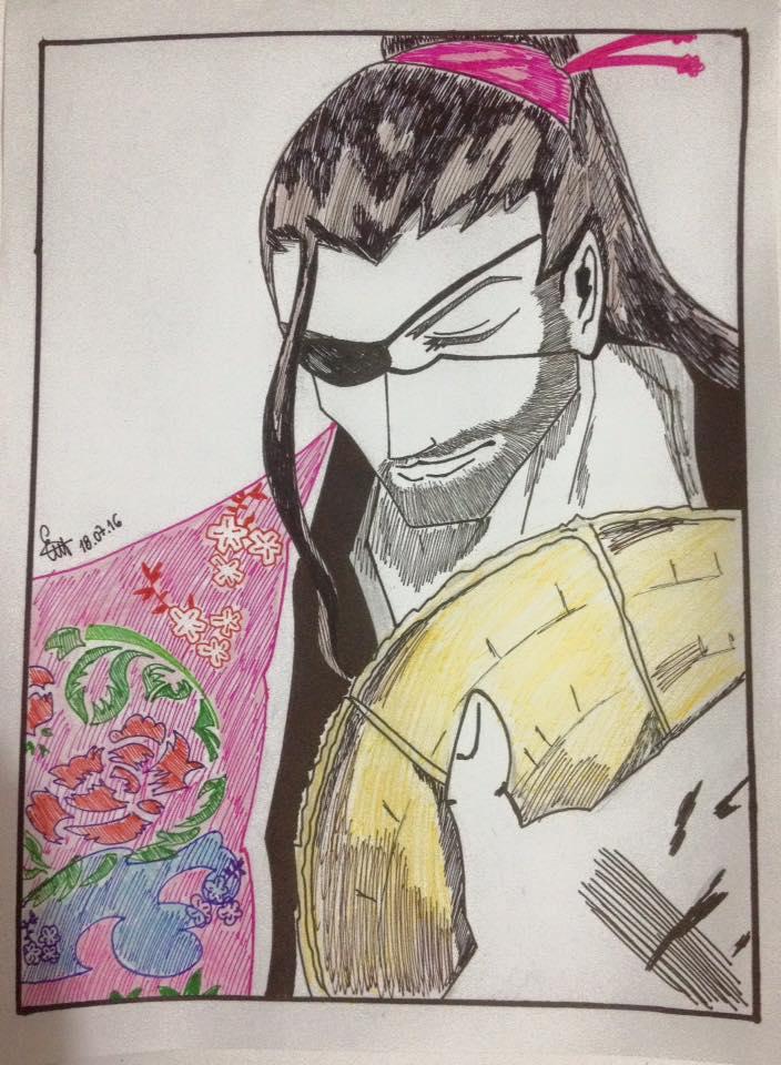 Shunsui Kyouraku (Bleach) by lustosaart