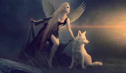 Angel DARK by MohamedHassan1990