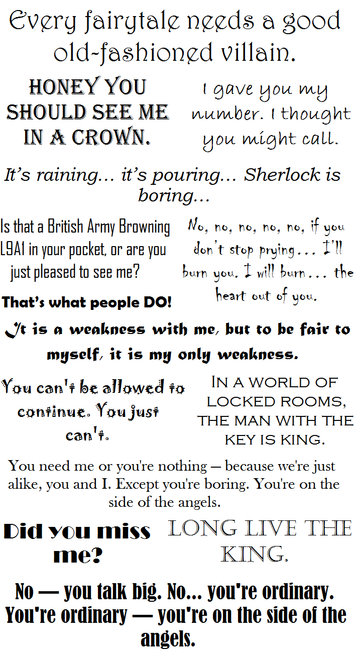 BBC Sherlock Moriarty Quotes by TheRealLeader on DeviantArt