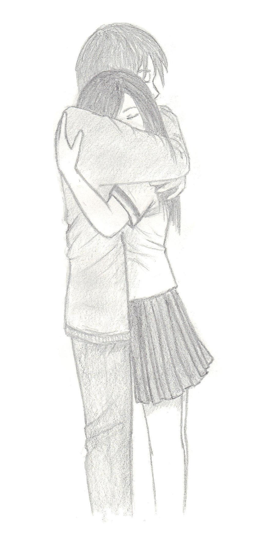 Hugging Couple Drawing Hugging couple by Pure...
