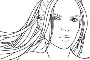 S1 - Alice Jones, lineart by AerynDiana