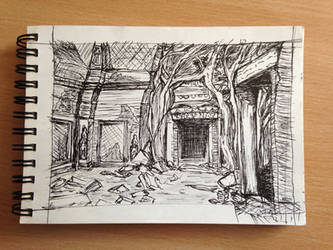 Temple-Sketch by mirceabotez
