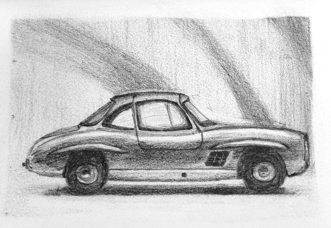 Mercedes sketch. by mirceabotez