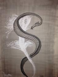 Serpent sketch by mirceabotez