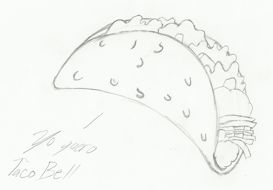 Yo quero taco bell by miyofox on deviantart for Taco bell coloring pages