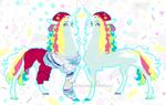 90s theme pony by SleepyDemonMonster