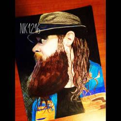 Bray Wyatt Colored Pencil Portrait