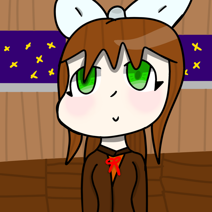 Monika (DDLC) by NoodlesD0odles
