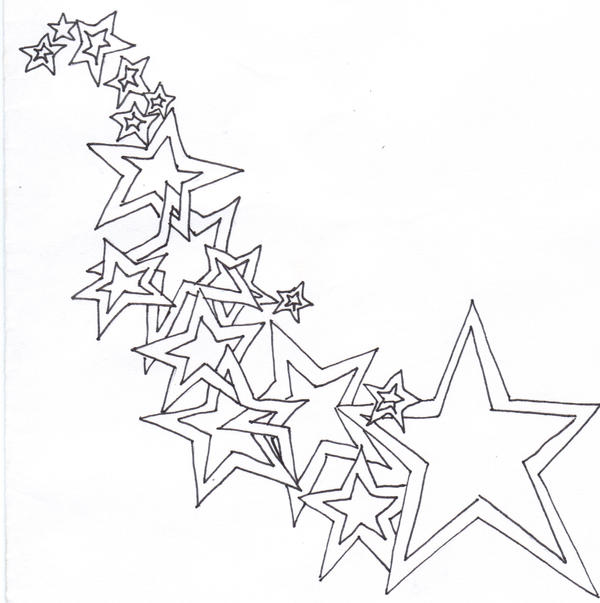 outline of a star tattoo the image kid has it. Black Bedroom Furniture Sets. Home Design Ideas