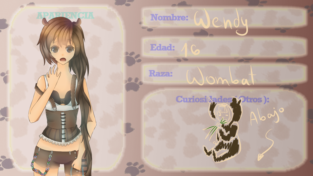 ficha animal academy rol - wendy by GetTheRythm25