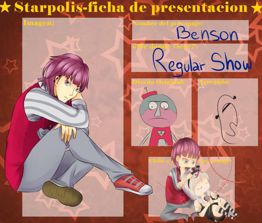 Ficha de starpolis - Benson by GetTheRythm25