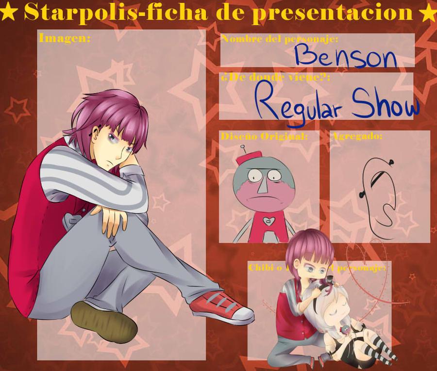 Ficha de starpolis - Benson by GetTheRythm25