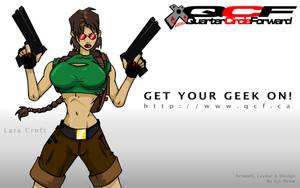 Lara Croft QCF Wallpaper by Crowchild85